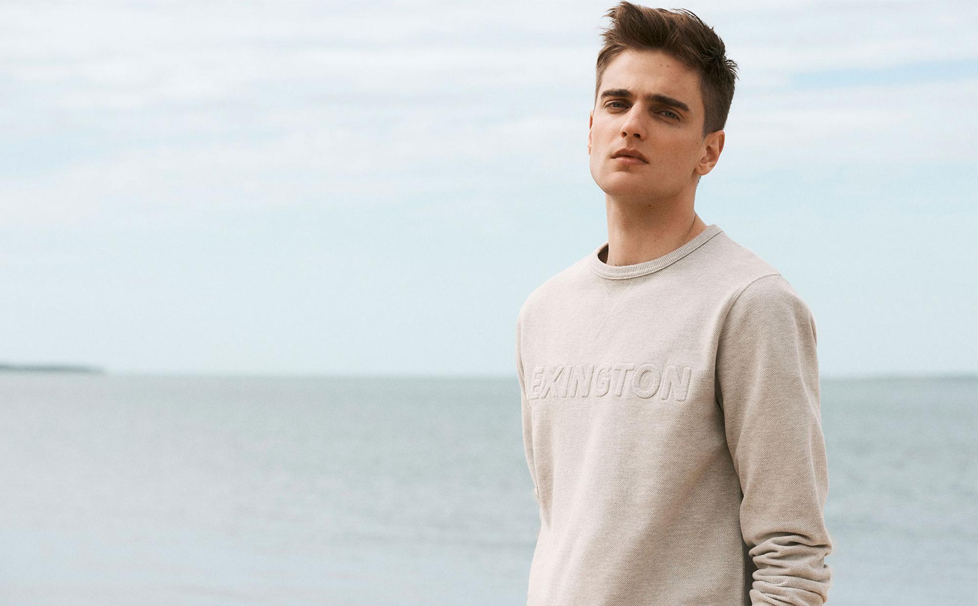 Shane Pique Sweatshirt, Light Gray