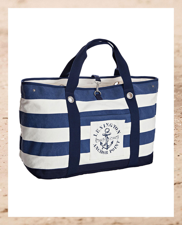 Miami Beach Bag, Blue/White - Coming soon!