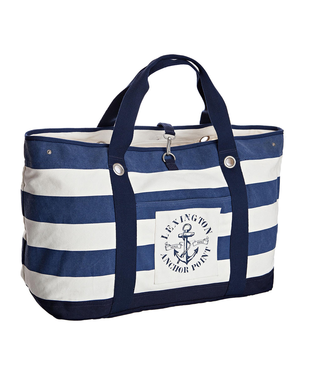 Miami Beach Bag, Blue/White