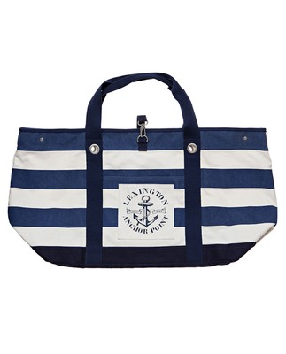 Miami Beach Bag, Blue/White