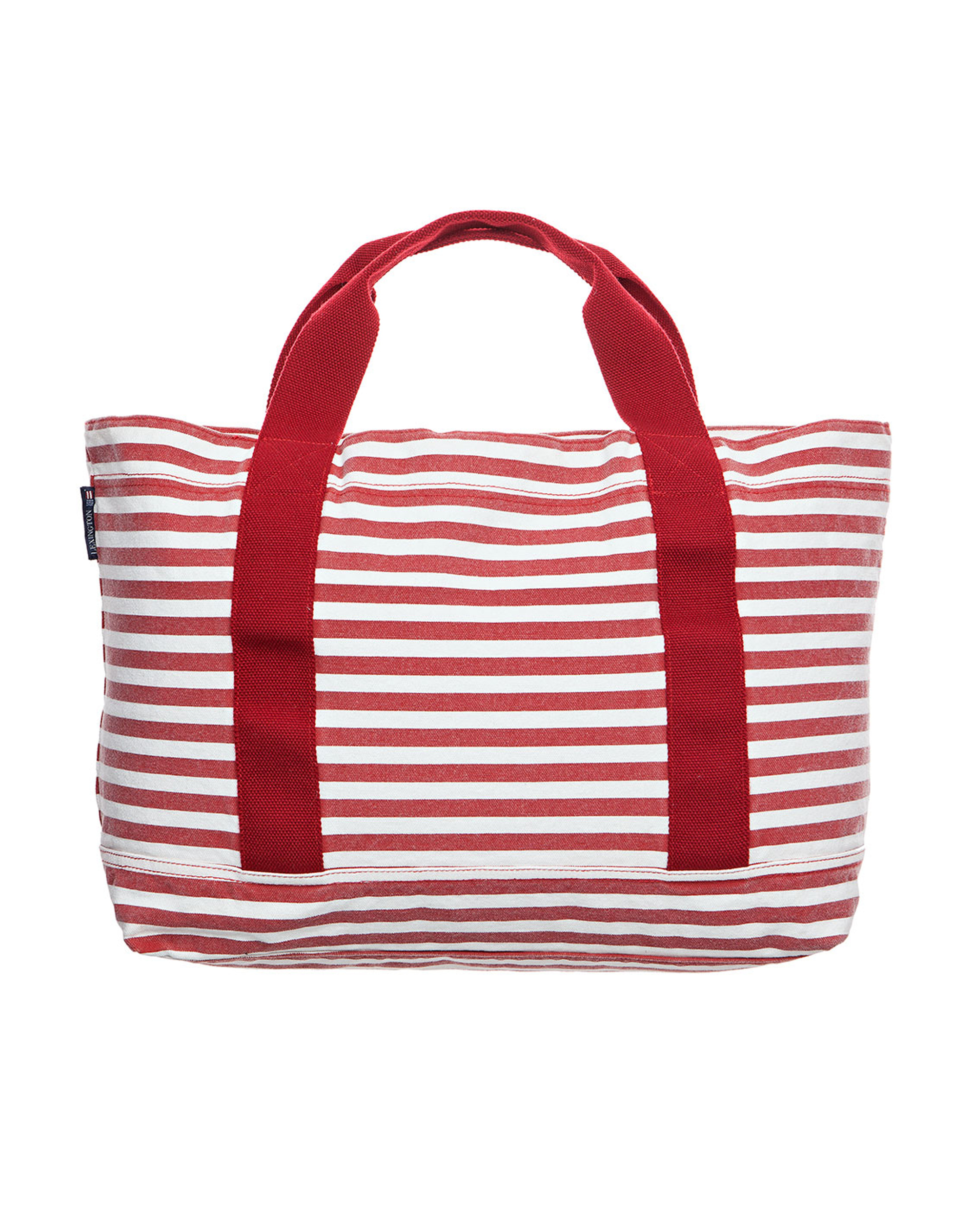 Pacific Tote Bag, White/Red