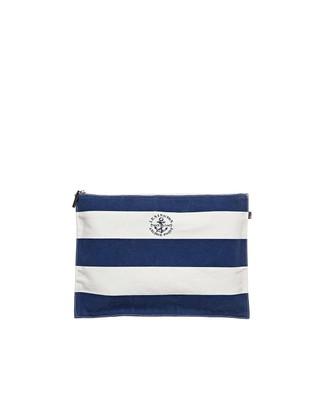 Two Mile Bag, Blue/White