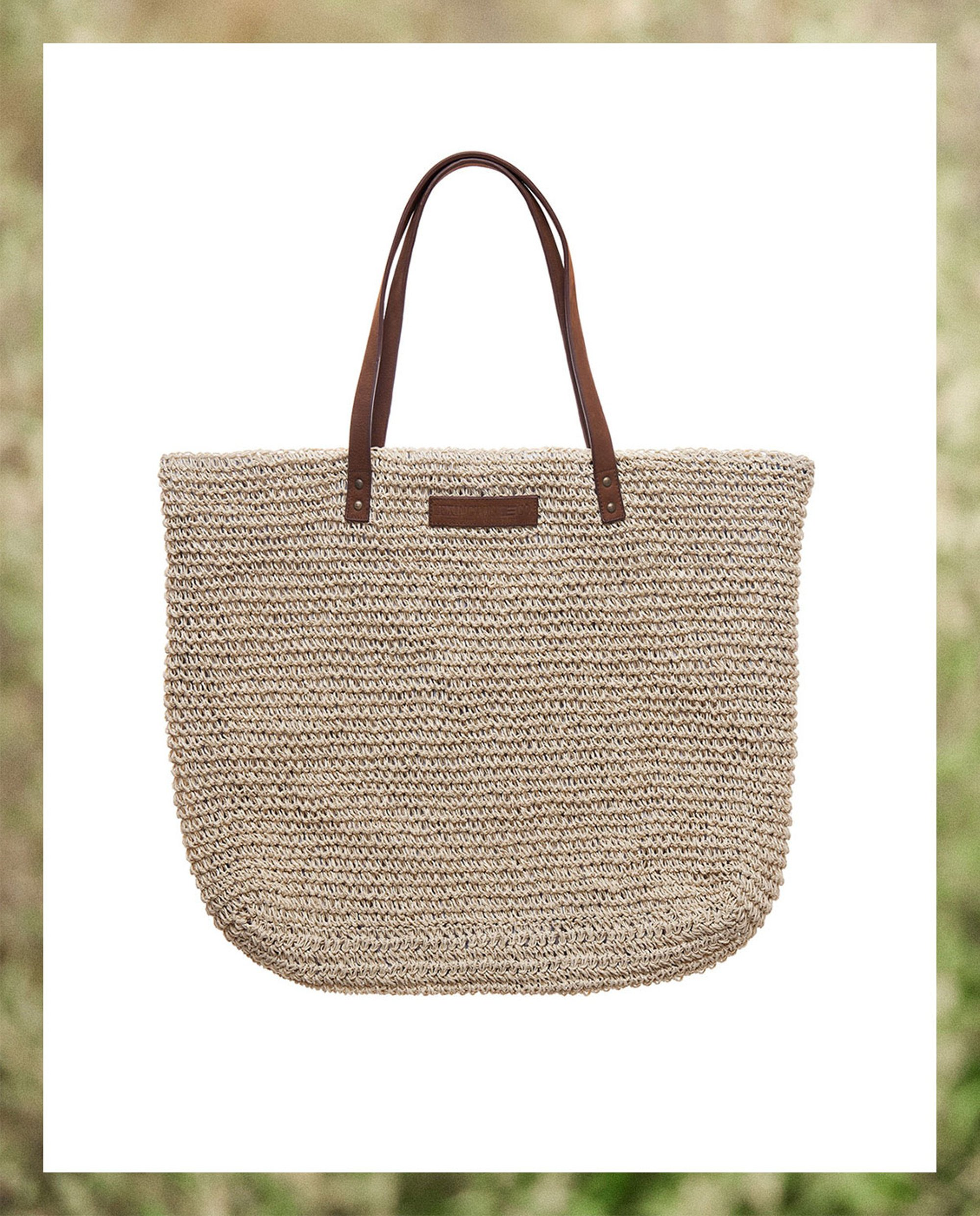 Riverside Paper Straw Bag, Beige