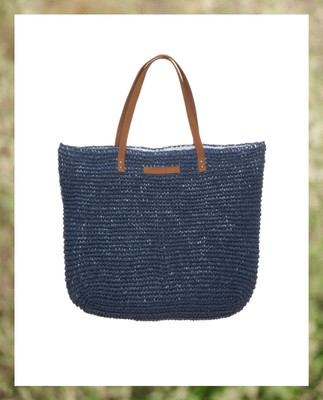 Riverside Paper Straw Bag, Deepest Blue