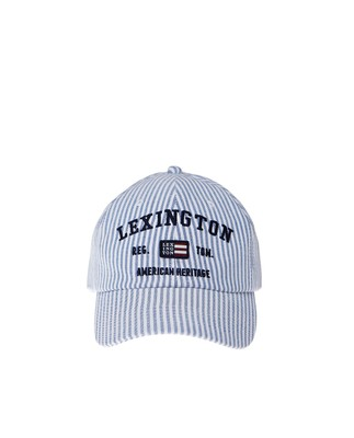 Houston Striped Oxford Cap, Blue/White