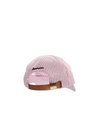 Houston Striped Oxford Cap, Red/White