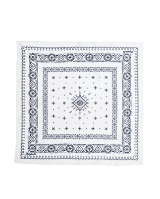 Elay Cotton Voile Scarf, Bone White