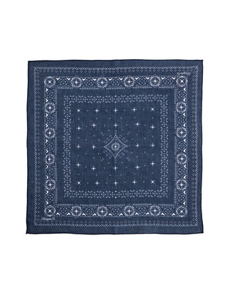 Elay Cotton Voile Scarf, Deepest Blue
