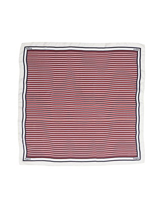 Gardiners Bay Silk Scarf, Striped Print