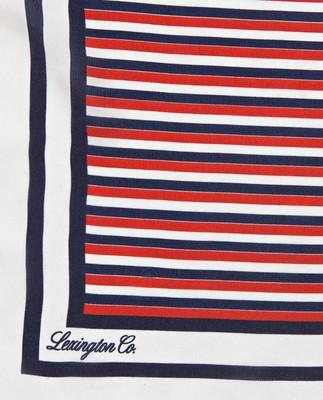 Gardiners Bay Silk Scarf, Striped Print