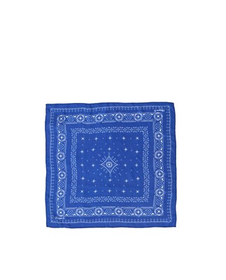 Austin Silk Bandana, True Blue