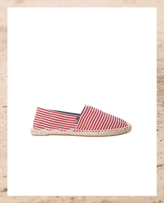 Lexington Espadrillo, Red/White - Coming soon!