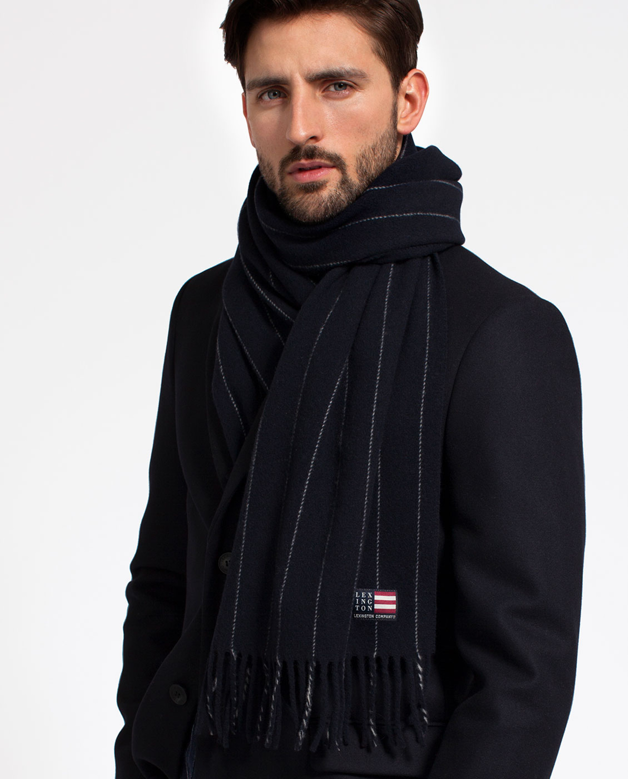Larry Navy Wool Overcoat