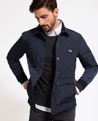 Hunter Quilted Jacket, Deepest Blue