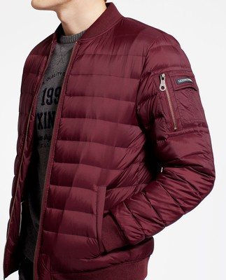 Aiden Bomber Down Jacket, Burgundy Wine