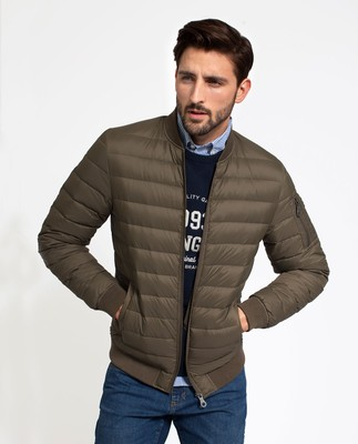 Aiden Bomber Down Jacket, Hunter Green