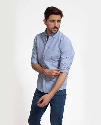 Kyle Oxford Shirt, Blue/White
