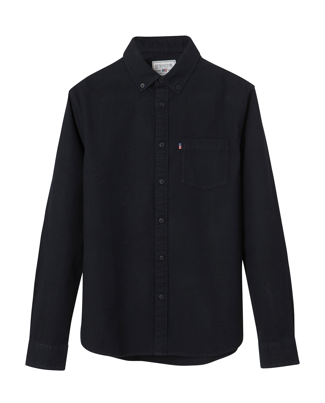 Kyle Oxford Shirt, Caviar Black