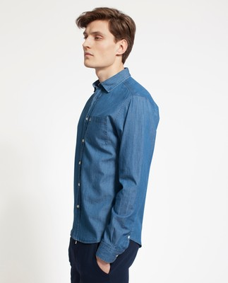 Clive Denim Shirt, Medium Blue