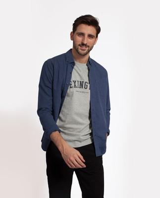 Peter Lt Flannel Shirt, Indigo