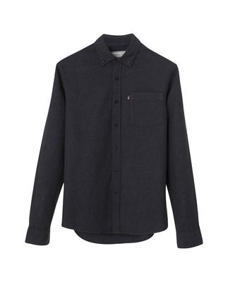 Peter Lt Flannel Shirt, Dark Gray