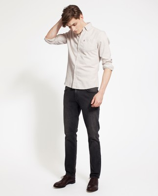 Peter Lt Flannel Shirt, Beige