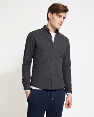 Peter Lt Flannel Shirt, Dark Gray