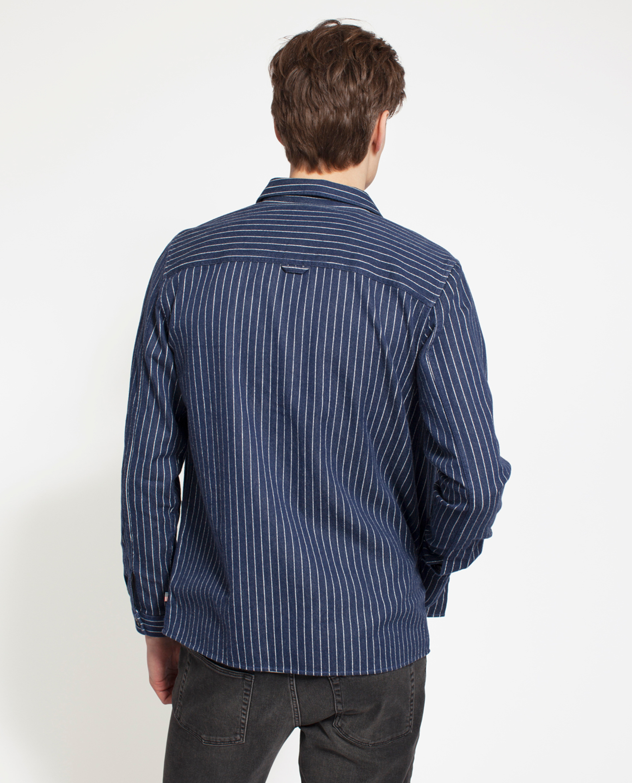 Robert Worker Shirt, Blue/White
