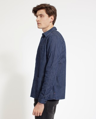 Robert Worker Shirt, Blue/White