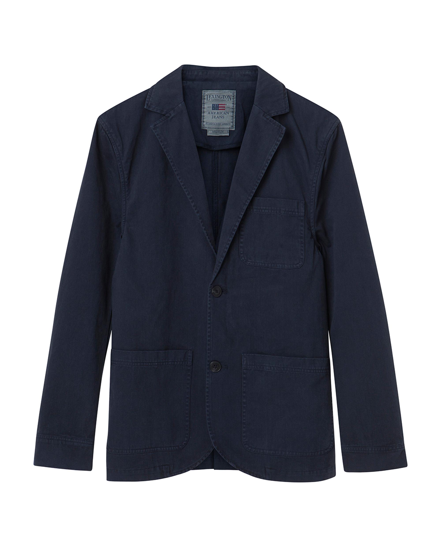 Malcolm Twill Jacket, Deep Marine Blue
