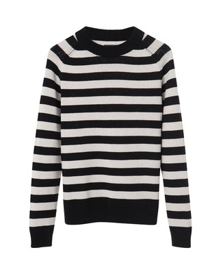 Gerald Striped Sweater, Beige/Black
