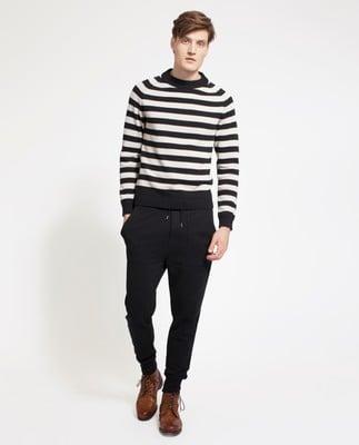 Gerald Striped Sweater, Beige/Black