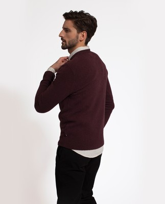 Tyrion Sweater, Burgundy Wine
