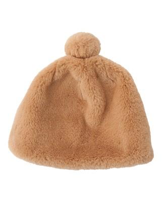 Colette Faux Fur Beanie, Camel