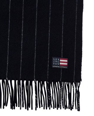 Massachusetts Scarf, Dark Blue/White
