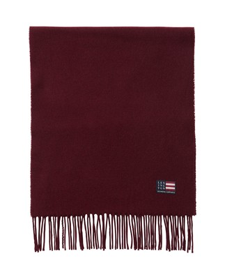 Massachusetts Scarf, Burgundy Wine