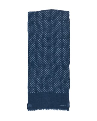 Burlington Wool Scarf, Indigo Print