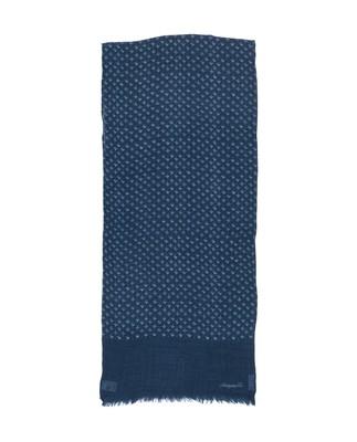 Burlington Wool Scarf, Indigo Print