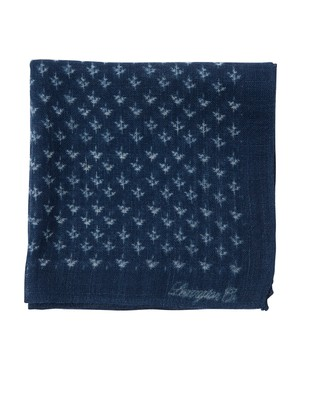 Dunsley Wool Handkerchief, Indigo Print