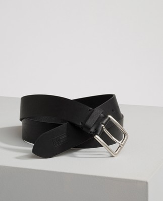 Greenville Leather Belt, Caviar Black