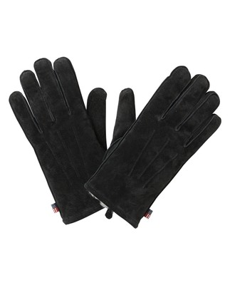 Maine Men's Suede Gloves, Caviar Black