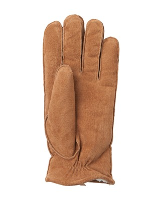Maine Men's Suede Gloves, Cognac