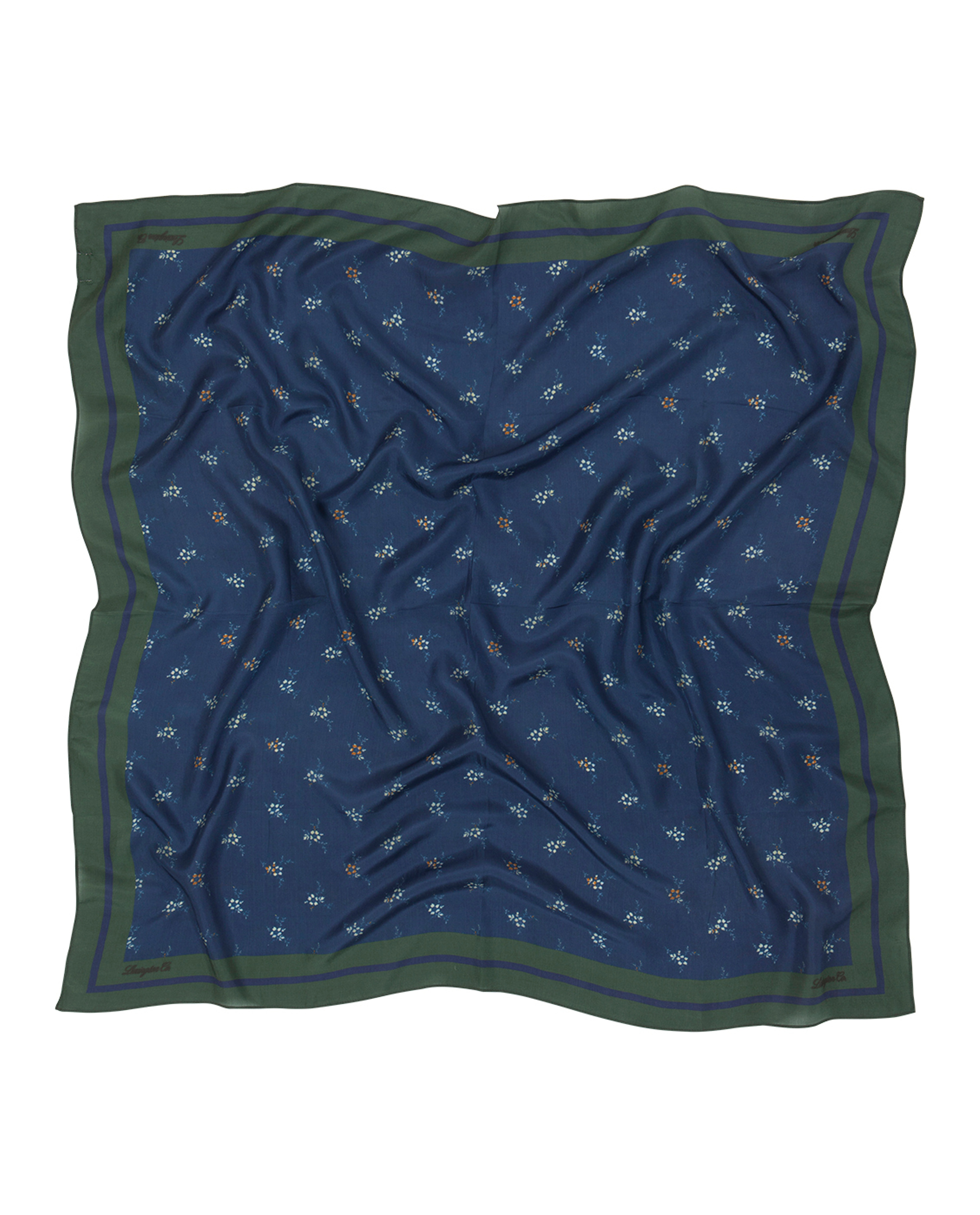 Gardiners Bay Flower Silk Scarf