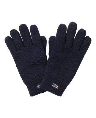 Connecticut Unisex Knitted Gloves, Deep Marine Blue