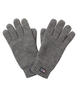 Connecticut Unisex Knitted Gloves, Heather Gray