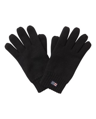 Connecticut Unisex Knitted Gloves, Caviar Black