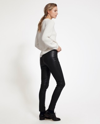 Jennifer Leather Stretch Pants