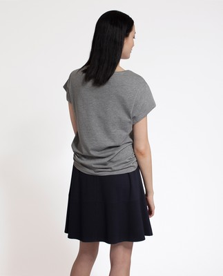 Ashley Jersey Tee, Heather Gray