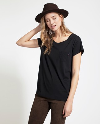 Ashley Jersey Tee, Caviar Black