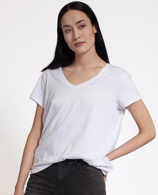 Becka V-neck Tee, Bright White